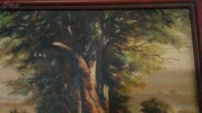 90年代带木框油画一幅,尺幅为70厘米*63厘米;