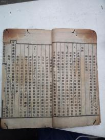一本四书便蒙的衬纸全是《大清现行刑律案语》,每页都衬,一厚本。