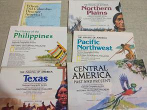 National Geographic国家地理杂志地图系列之1986年全年6张合售 品佳包邮