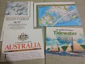 National Geographic国家地理杂志地图系列之1988年全年4张合售 品佳包邮