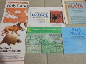 National Geographic国家地理杂志地图系列之1989年全年6张合售 品佳包邮