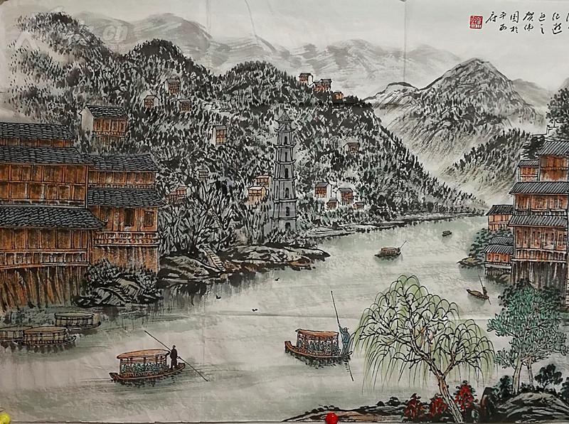 当代著名山水画家,一级美术师,中华诗词学会会员,北京燕京书画院副图片