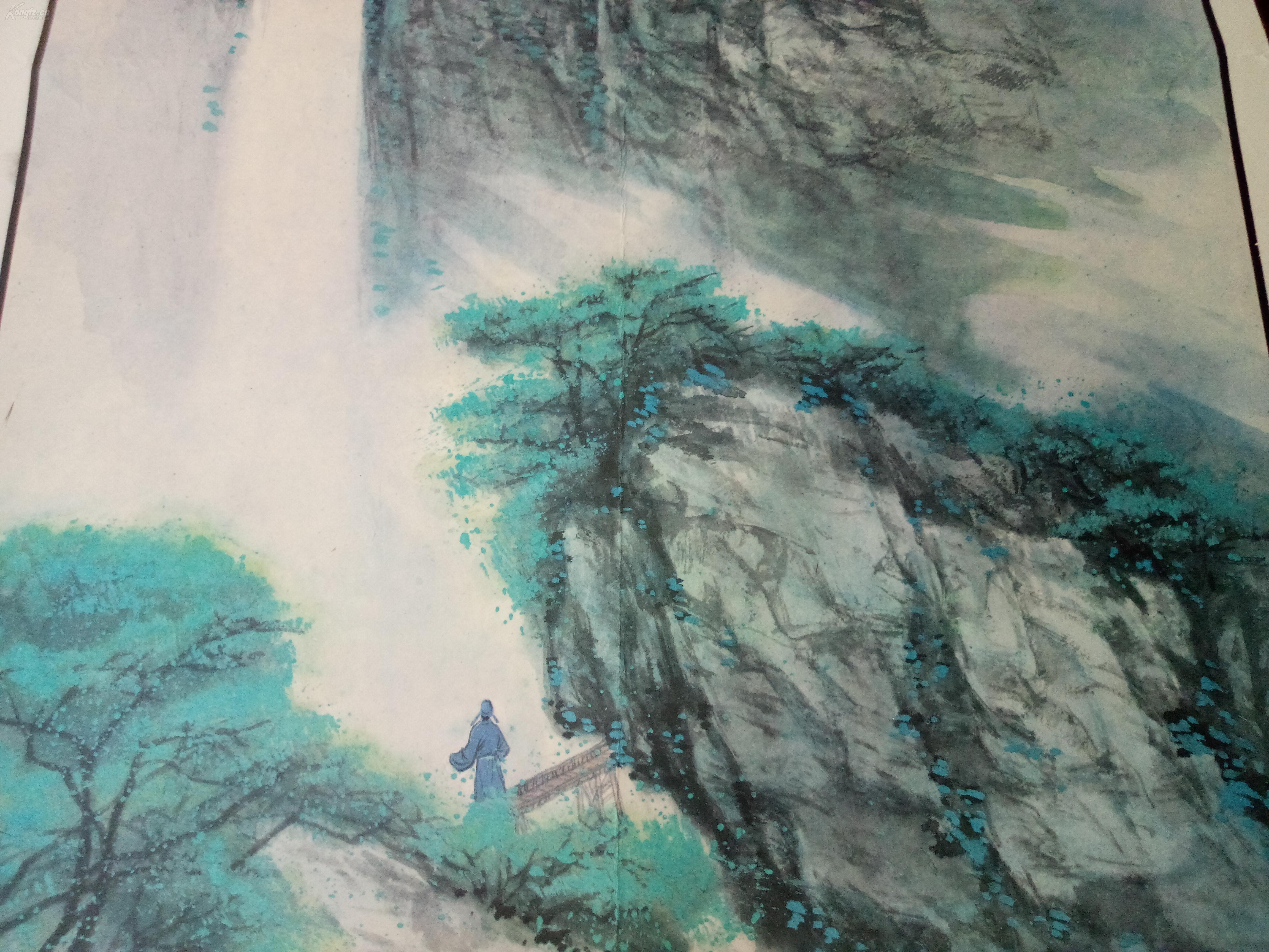 教学挂图,【古诗两首,望庐山瀑布】,品相好!图片