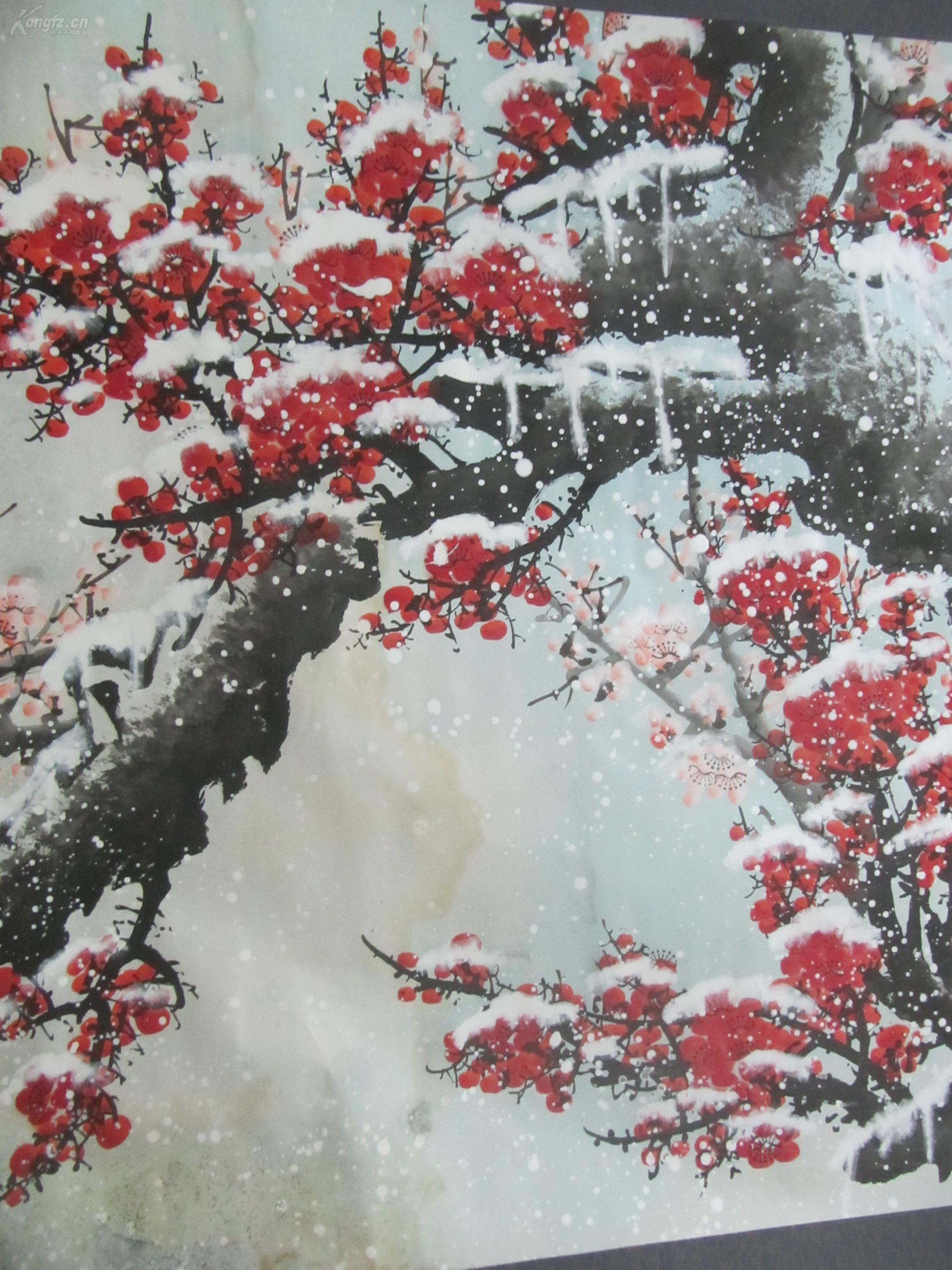 """大幅清代画家""""三阳开泰""""装裱画1幅(装裱尺寸:1.42... -7788收藏"""