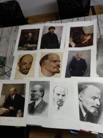 外文俄文 1953年列宁像  四开  厚实纸 苏联画家艺术家作品中的列宁1-10,少见珍藏本,