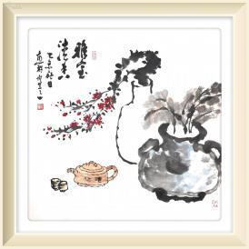 名家四尺斗方国画【雅室清香】原价几百上千的画一律低价出售