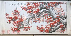 佚名 2012年 国画作品《傲雪迎春》 一幅 (纸本简轴,约12.7平尺,有钤印,请自鉴) HXTX103422