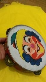 八十年代铁皮手鼓一个(满200全国包邮)