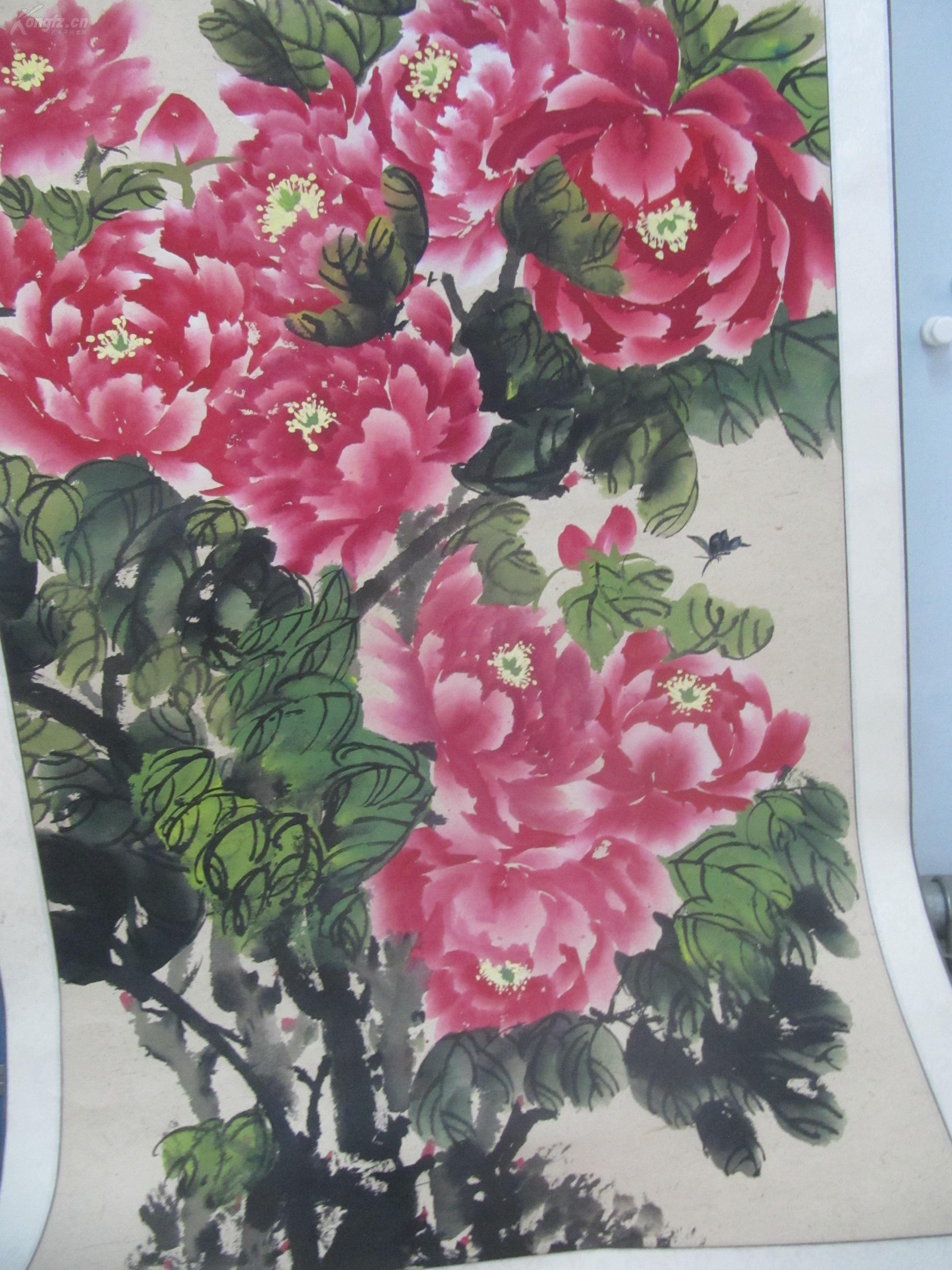 已装裱大幅花鸟国画:紫云飘香【尺幅64*170CM】_孔夫子旧书网