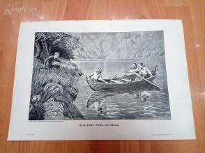 1890年木刻版画《狐狸与鹅》(Fuchs und Gänse)---40.5*29厘米--木刻艺术欣赏(z5)