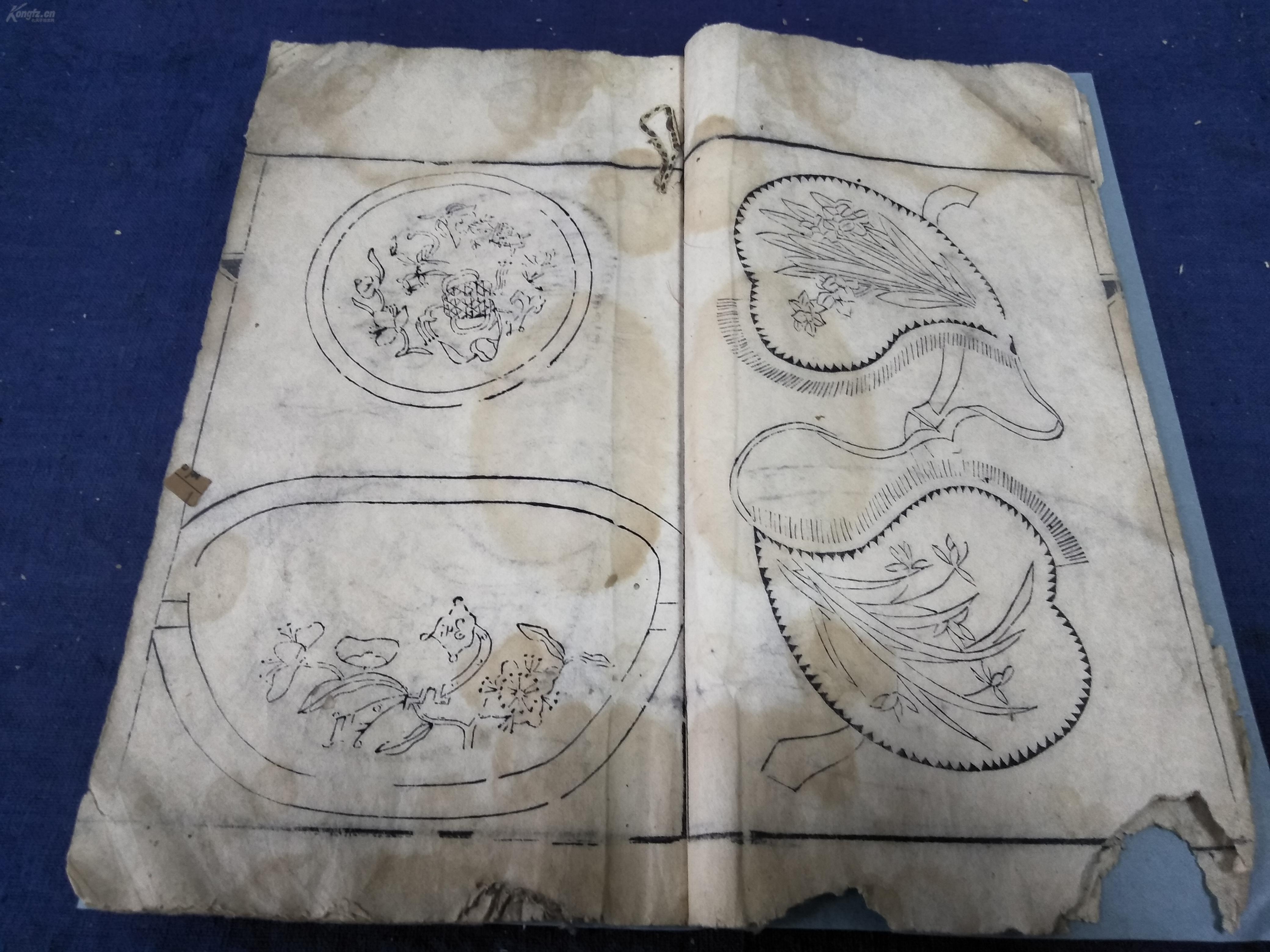 复古荷包花纹图案