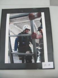 军旅摄影照片一张 扶梯 尺寸25 20厘米