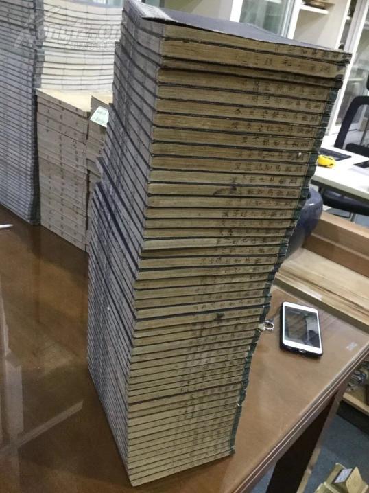 和刻本 迟木堂纲鉴易知录92卷 日本江户末期木刻本48册全 开本 22.3 15.3公分