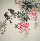 中国美术家协会会员、中央文史研究馆馆员、国画家【张世简】   花鸟    精品纯手绘