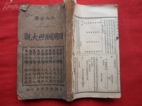 线装书《日用文件大全》清,1厚册全,品如图。