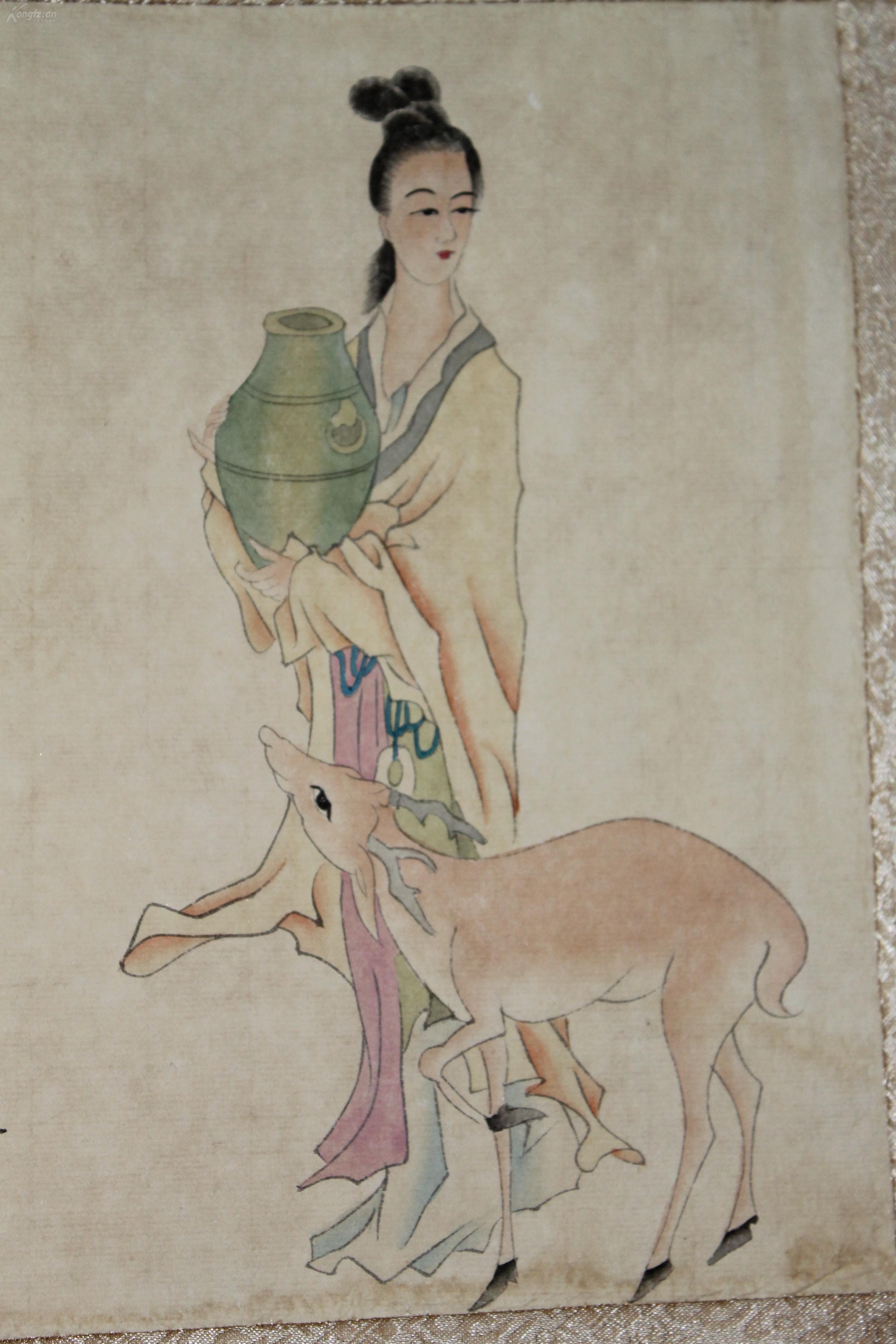 清 焦秉贞 仕女图 30x45cmx8 字画 古代美女 清朝佳丽 艺术微喷