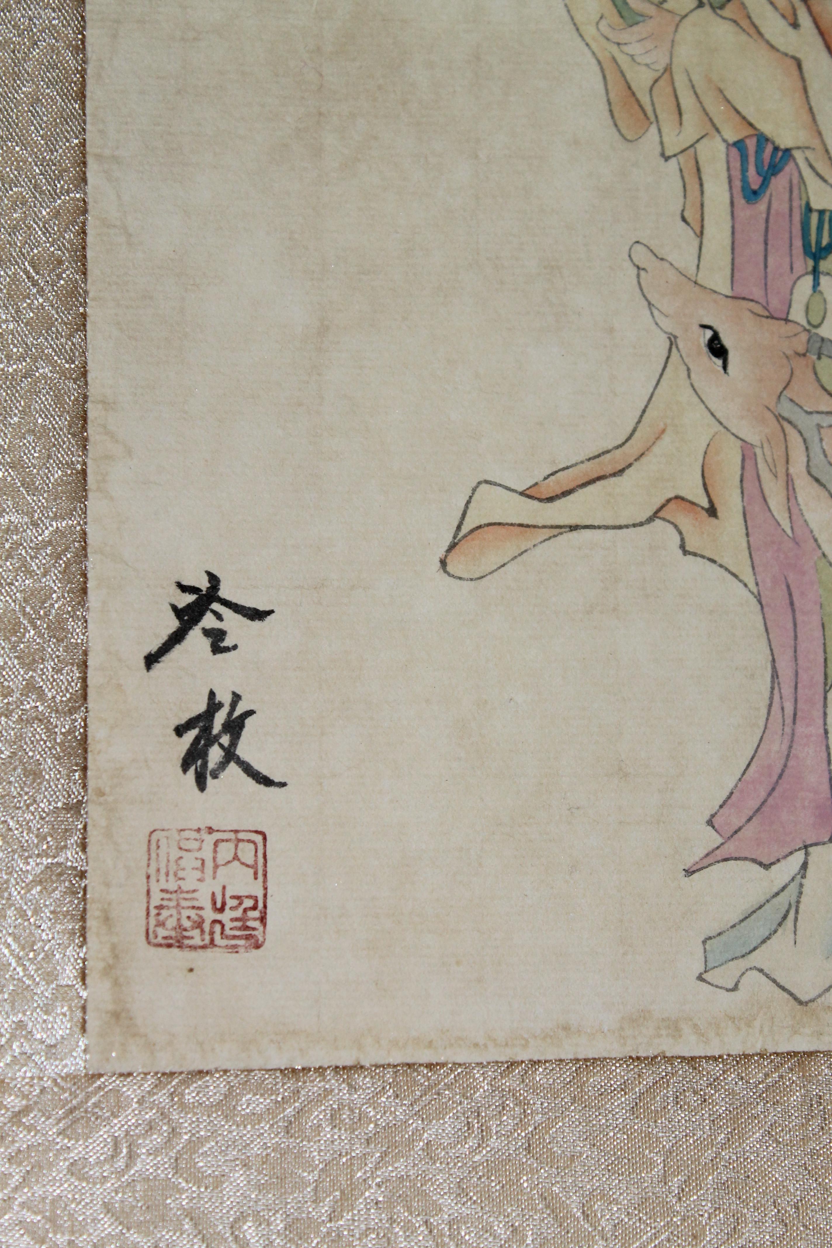 清代宫廷画家焦秉贞仕女图,值得欣赏,感谢分享转发
