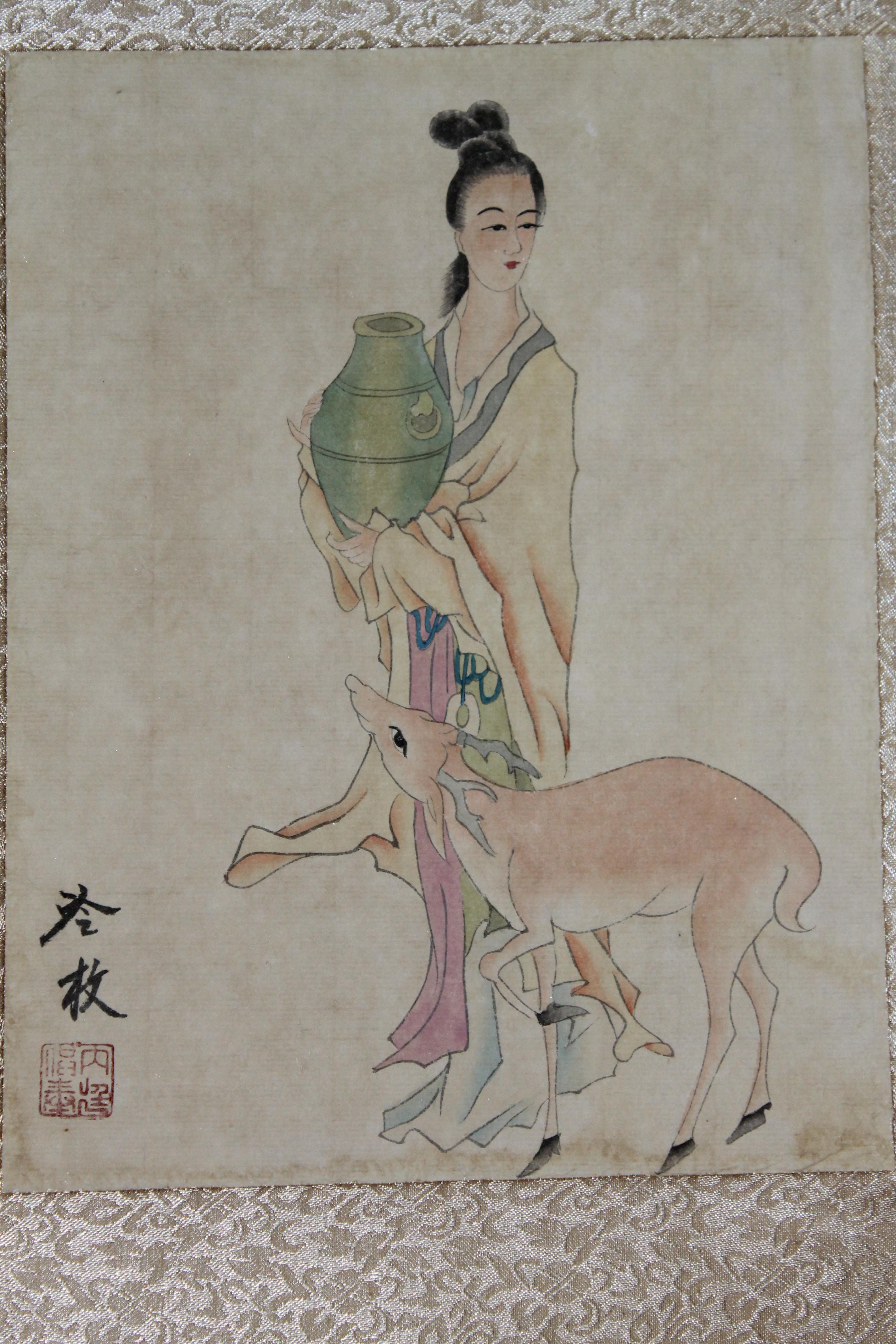 中国绘画邮票图录(11)清代绘画·清宫廷画家焦秉贞_... _新浪博客