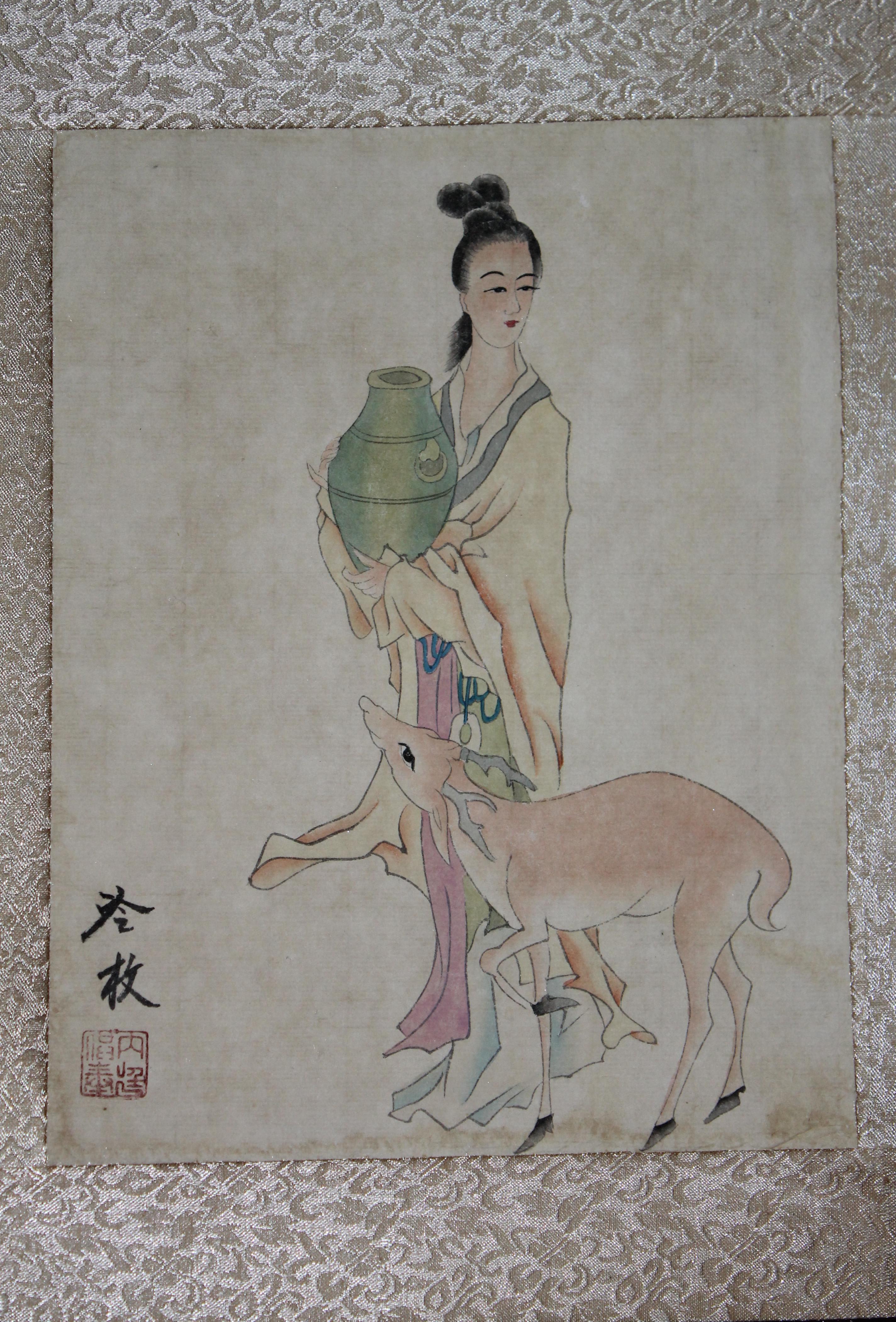 清代宫廷画家:焦秉贞绘、张之万、王同愈题跋《工... -马可波罗网