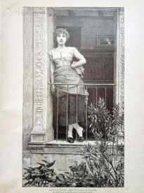 1890年木刻版画《普罗旺斯的玫瑰》(Die Rose der Provence)---40.5*29厘米--木刻艺术欣赏(6)