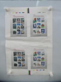 99年中国邮票总公司---打样稿<中国邮票设计印制事业>展位参观纪念邮票 4开1张 含36枚
