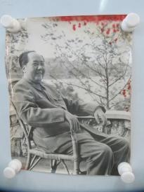 文革时期老照片一幅 毛泽东像 尺寸29/22厘米