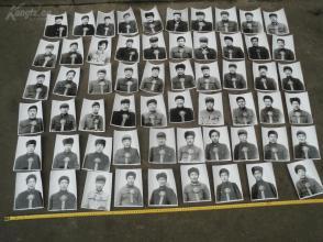 美品《文革先进个人照片59张一齐出》官方拍摄的上光荣榜的原版大照片