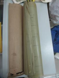 约50年代 手绘图纸一套 《大清河 府河 横断面图 65张尺寸70/50厘米 蜡光纸