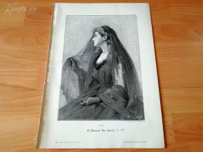 1890年木刻版画《夜》(die nacht)---40.5*29厘米--木刻艺术欣赏(z5)