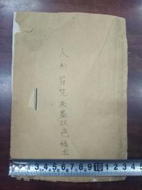 19*13.5 极为少见的清代朱墨双色稿本《人形符咒》四十页八十面记录的全是符咒,从未见过类似的符咒稿本!022