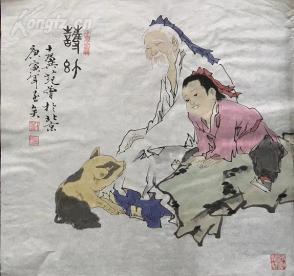 s高仿 四尺人物斗方国画 68x68 (3)