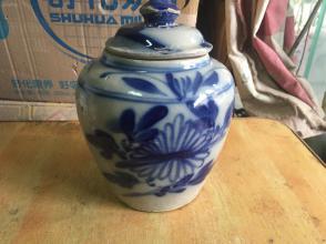 清朝时期的磁州窑青花茶叶罐,包老完整图片