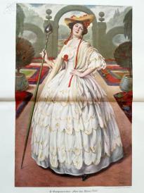 1890年彩色平版印刷画《海涅时代》(aus der heine zeit)---58*40.5厘米--(21)