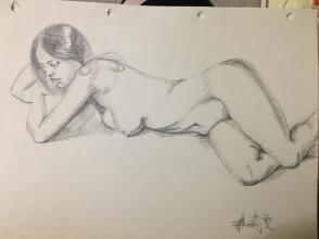 《侧躺的女人》