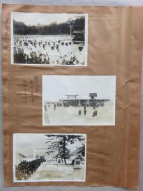 民国  日军 日本皇室墓地—大正天皇多摩陵参拜、1929年悼念战友、朝鲜神宫参拜 老照片3枚