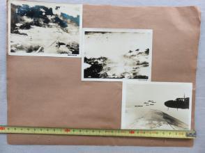 民国  日军侵华 海军省 许可济 第1731582-1731587-1731589-号 航空军 飞行大队  轰炸 老照片3枚