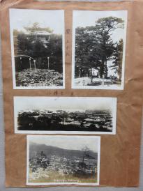 民国  日军侵华 関の五本松、小樽市市景、朝鲜神宫望京城 老照片3枚