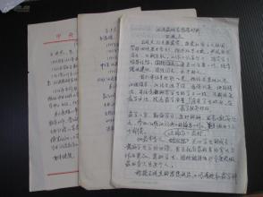 中央民族大学教授王*廷杰  手写简历2份 推荐材料1份 共4页!