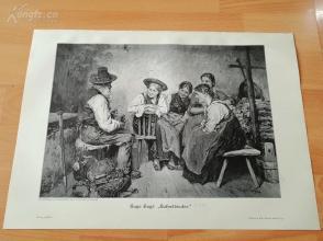 1890年木刻版画《无尿点的故事(便壶粘接剂)》(haferlbinder)---40.5*29厘米--木刻艺术欣赏(20)