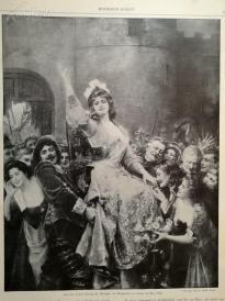 1890年平版印刷画《蒙旁西埃公爵夫人在新奥尔良》(einzug der herzogin von montpensier in orleans im marz 1652)---40.5*29厘米--(21)