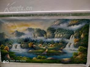 精品  超大幅油画  风景   120CM*60CM