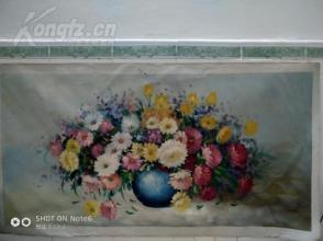 巨幅精品  油画  花卉  120CM*60CM
