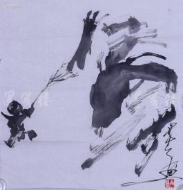 唐双宁 水墨画写意画作品一幅(纸本软片,约2.5平尺,钤印:唐双宁)  HXTX104046