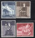 『圣马力诺邮票』1969年 锡耶纳壁画 和平公正女神  雕刻版 4全新