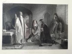 1854年钢版画-《威廉.罗素勋爵1683》(lord william russell)--《弗农画廊精选》,34*25厘米--精美,漂亮,高质量