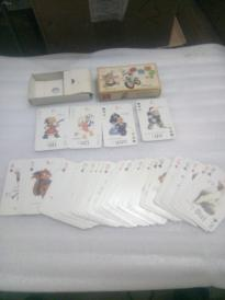 老扑克牌(动物拼音扑克牌全,四张大小王共56张)带内外盒