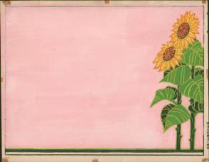 七十年代宣传标语幻灯片手绘设计原稿《向阳花》