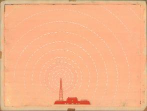 七十年代宣传标语幻灯片手绘设计原稿《北京广播》