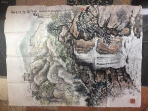 《金山石谷静心瀑》辛己夏金宝写生作景州乐园---原画