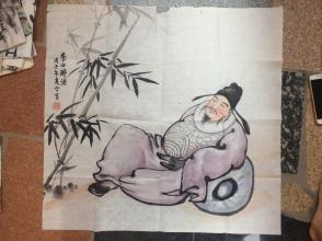 《李白醉酒》戊子年夏金宝---原画
